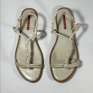 Prada White-Cream Sandals